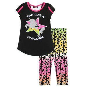 🎁#GIRLSQUAD 7-14 Active Legging Set. Unicorn Win!